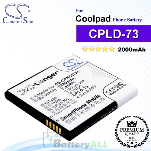 CS-CPN887XL For Coolpad Phone Battery Model CPLD-73