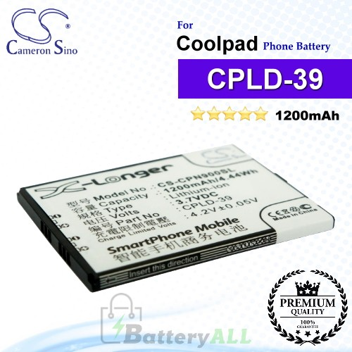 CS-CPN900SL For Coolpad Phone Battery Model CPLD-39