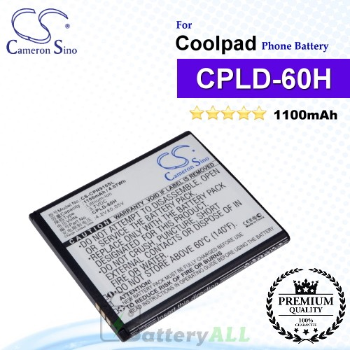 CS-CPN910SL For Coolpad Phone Battery Model CPLD-60H