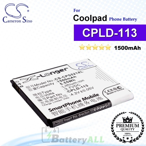CS-CPS521XL For Coolpad Phone Battery Model CPLD-113