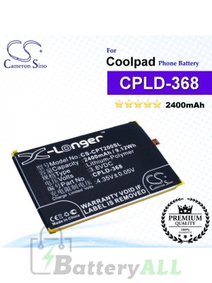 CS-CPT200SL For Coolpad Phone Battery Model CPLD-368