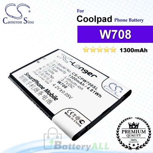 CS-CPW708SL For Coolpad Phone Battery Model W708