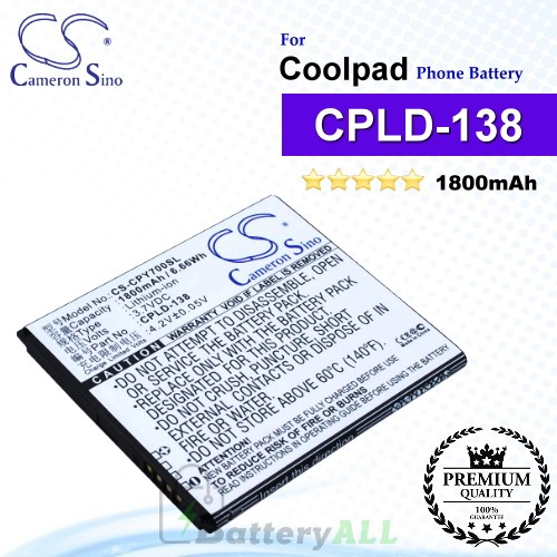 CS-CPY700SL For Coolpad Phone Battery Model CPLD-138