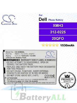 CS-DEM5SL For Dell Phone Battery Model XMH3 / 312-0225 / 20QFO