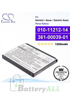 CS-GAM60SL For Garmin / Asus / Garmin Asus Phone Battery Model 010-11212-14 / 361-00039-01