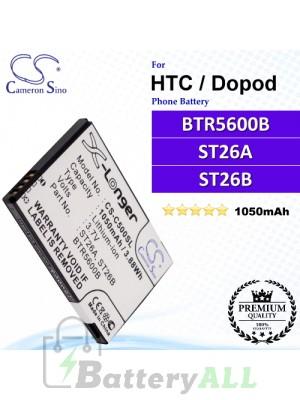 CS-C500SL For HTC / Dopod Phone Battery Model BTR5600B / ST26A / ST26B