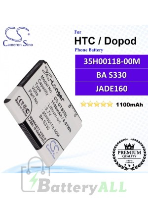CS-DTS3SL For HTC / Dopod Phone Battery Model 35H00118-00M / BA S330 / JADE160