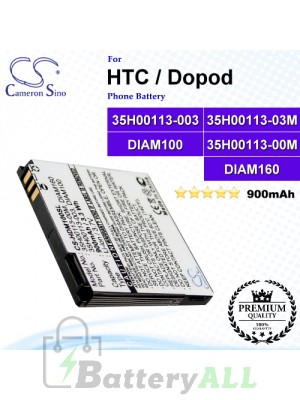 CS-HDM100SL For HTC / Dopod Phone Battery Model 35H00113-003 / 35H00113-03M / DIAM100 / DIAM160