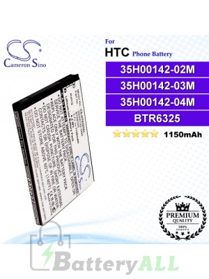 CS-HT6325SL For HTC Phone Battery Model 35H00142-02M / 35H00142-03M / 35H00142-04M / 35H00142-08M / 35H00142-10M / 35H00142-12M / 35H00142-13M / 35H00142-14M / 35H00149-01M / BD42100 / BTR6325 / BTR6325B