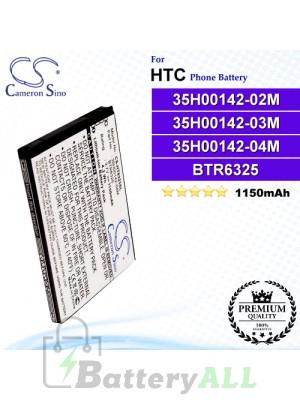 CS-HT6325SL For HTC Phone Battery Model 35H00142-02M / 35H00142-03M / 35H00142-04M / 35H00142-08M / 35H00142-10M / 35H00142-12M / 35H00142-13M / 35H00142-14M / 35H00149-01M / BD42100 / BTR6325 / BTR6325B
