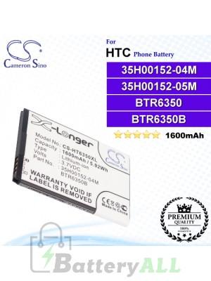 CS-HT6350XL For HTC Phone Battery Model 35H00152-04M / 35H00152-05M / BTR6350 / BTR6350B