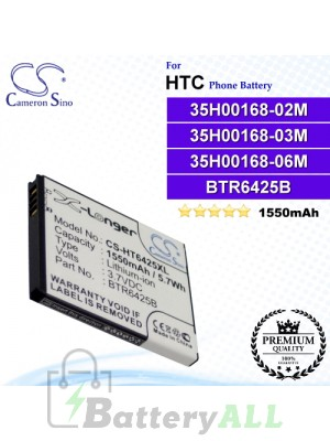 CS-HT6425XL For HTC Phone Battery Model 35H00168-02M / 35H00168-03M / 35H00168-06M / BH98100 / BTR6425 / BTR6425B
