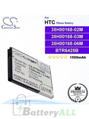 CS-HT6425XL For HTC Phone Battery Model 35H00168-02M / 35H00168-03M / 35H00168-06M / BH98100 / BTR6425 / BTR6425B