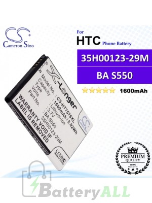 CS-HT7576XL For HTC Phone Battery Model 35H00123-29M / BA S550