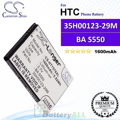 CS-HT7576XL For HTC Phone Battery Model 35H00123-29M / BA S550