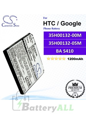 CS-HT8181SL For HTC / Google Phone Battery Model 35H00132-00M / 35H00132-05M / BA S410
