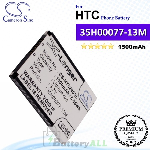 CS-HT8290SL For HTC Phone Battery Model 35H00077-13M