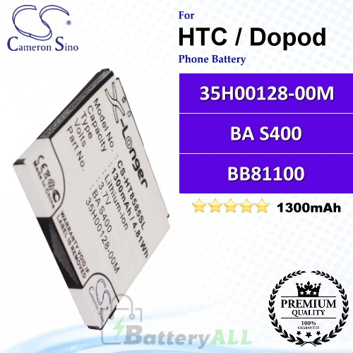 CS-HT8585SL For HTC / Dopod Phone Battery Model 35H00128-00M / BA S400 / BB81100