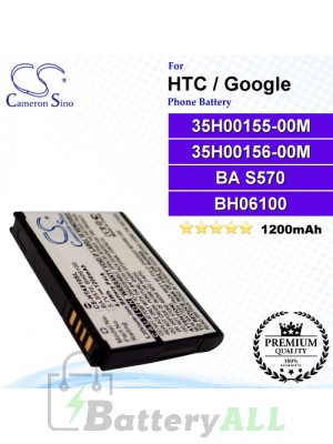 CS-HTA810SL For HTC / Google Phone Battery Model 35H00155-00M / 35H00156-00M / BA S570 / BH06100