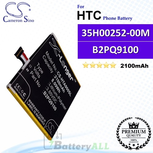 CS-HTA900SL For HTC Phone Battery Model 35H00252-00M / B2PQ9100