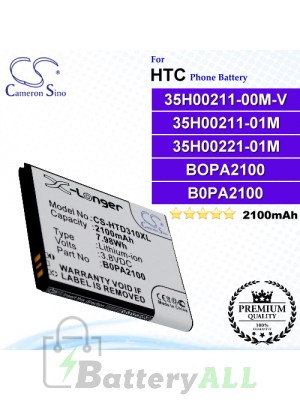 CS-HTD310XL For HTC Phone Battery Model 35H00211-00M-V / 35H00211-01M / 35H00221-01M / B0PA2100