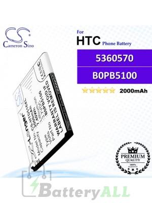 CS-HTD516XL For HTC Phone Battery Model 5360570 / B0PB5100