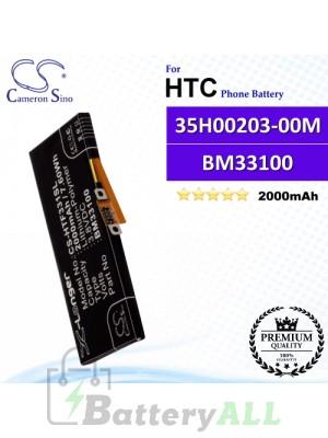 CS-HTF331SL For HTC Phone Battery Model 35H00203-00M / BM33100