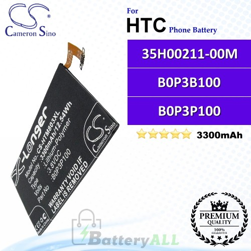 CS-HTM803XL For HTC Phone Battery Model 35H00211-00M / B0P3B100 / B0P3P100