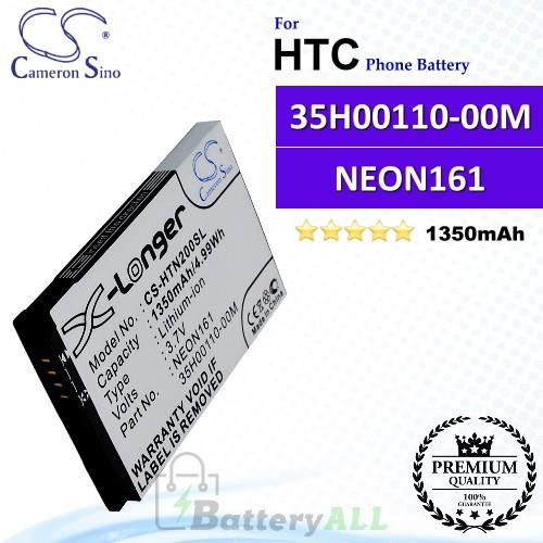 CS-HTN200SL For HTC Phone Battery Model 35H00110-00M / NEON161