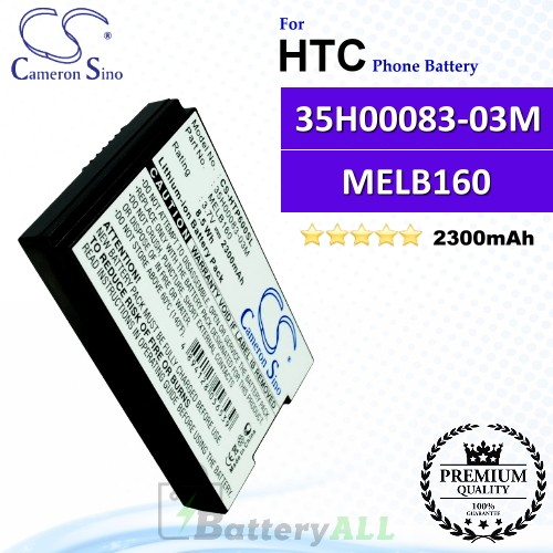CS-HTP600SL For HTC Phone Battery Model 35H00083-03M / MELB160