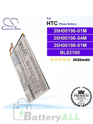CS-HTX920XL For HTC Phone Battery Model 35H00196-01M / 35H00196-04M / 35H00198-01M / BL83100 / BTR6435B