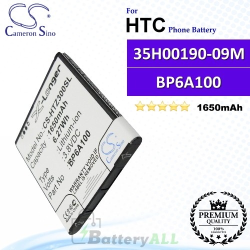 CS-HTZ300SL For HTC Phone Battery Model 35H00190-09M / BP6A100