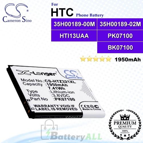 CS-HTZ321XL For HTC Phone Battery Model 35H00189-00M / 35H00189-02M / HTI13UAA / PK07100