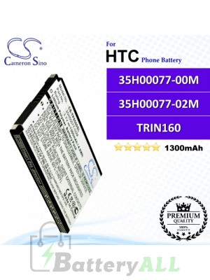 CS-TP6500SL For HTC Phone Battery Model 35H00077-00M / 35H00077-02M / TRIN160