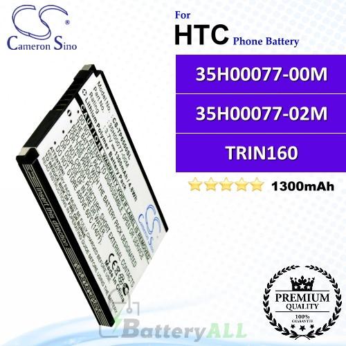 CS-TP6500SL For HTC Phone Battery Model 35H00077-00M / 35H00077-02M / TRIN160