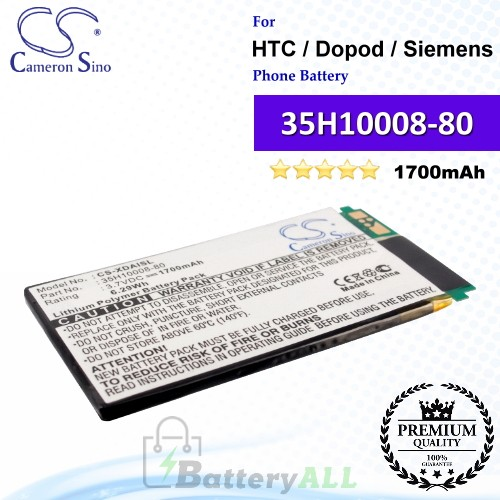 CS-XDAISL For HTC / Dopod Phone Battery Model 35H10008-80