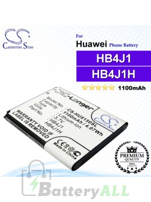 CS-HU8150SL For Huawei Phone Battery Model HB4J1 / HB4J1H