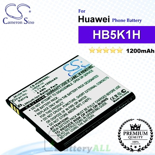 CS-HU8650SL For Huawei Phone Battery Model HB5K1H