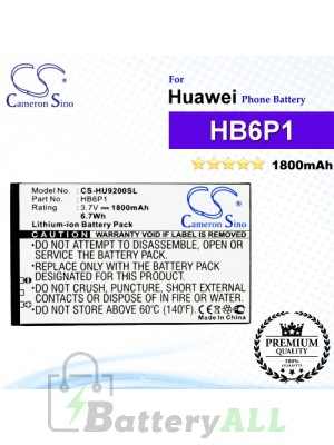 CS-HU9200SL For Huawei Phone Battery Model HB6P1