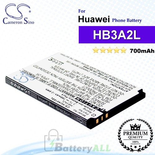CS-HUA618SL For Huawei Phone Battery Model HB3A2L