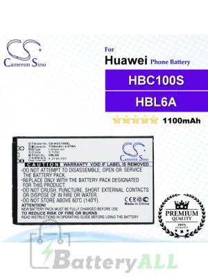 CS-HUC100SL For Huawei Phone Battery Model HBL6A / HBC100S