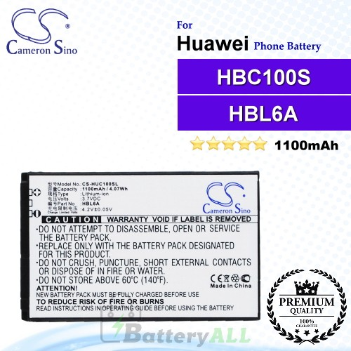 CS-HUC100SL For Huawei Phone Battery Model HBL6A / HBC100S