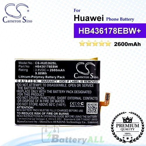 CS-HUE262SL For Huawei Phone Battery Model HB436178EBW / HB436178EBW+