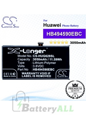 CS-HUG628SL For Huawei Phone Battery Model HB494590EBC