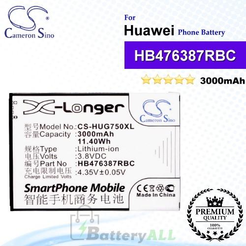 CS-HUG750XL For Huawei Phone Battery Model HB476387RBC