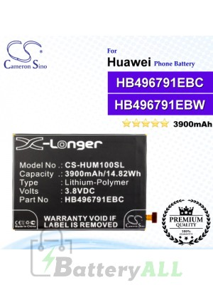 CS-HUM100SL For Huawei Phone Battery Model HB496791EBC / HB496791EBW