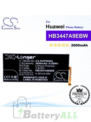 CS-HUP800SL For Huawei Phone Battery Model HB3447A9EBW