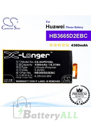 CS-HUP810SL For Huawei Phone Battery Model HB3665D2EBC