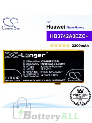 CS-HUP820SL For Huawei Phone Battery Model HB3742A0EZC / HB3742A0EZC+