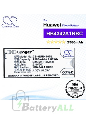 CS-HUR410SL For Huawei Phone Battery Model HB4342A1RBC